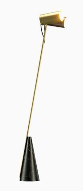 Lampadaire ed027 laiton noir o35cm h140cm edizioni normal