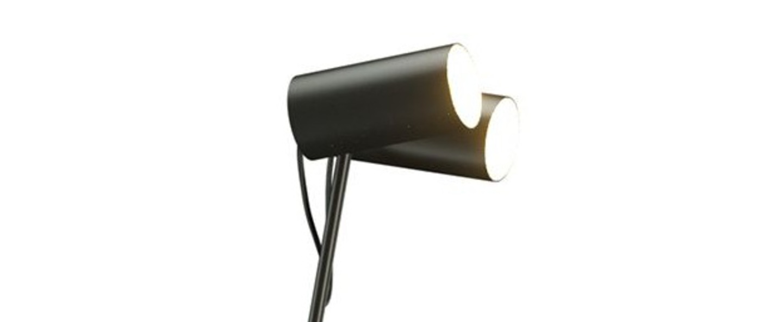 Lampadaire ed027 noir o35cm h140cm edizioni normal