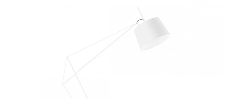 Lampadaire elisabeth blanc h158cm harto normal