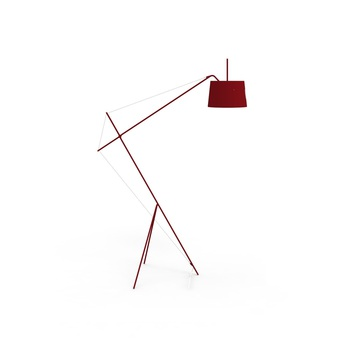 Lampadaire elisabeth rouge pourpre o33cm h137cm harto normal