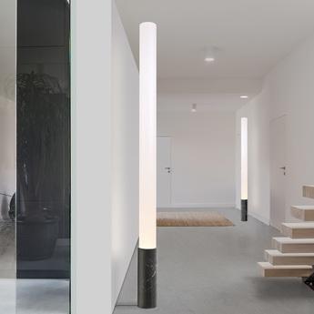 Lampadaire elise 80 marbre noir o14 6cm h203cm pablo normal