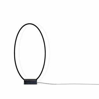 Lampadaire ellisse noir led 2700k 3450lm o70cm h138cm nemo lighting normal