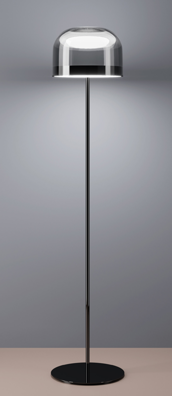 Lampadaire equatore s chrome led o23 8cm h135cm fontana arte normal