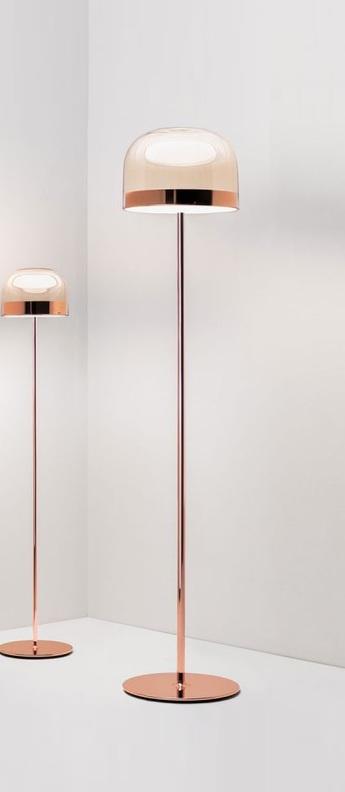 Lampadaire equatore s cuivre led 2700k 2790lm o37 1cm h175cm fontana arte normal