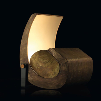 Lampadaire escargot marron l48 5cm h51cm nemo lighting normal