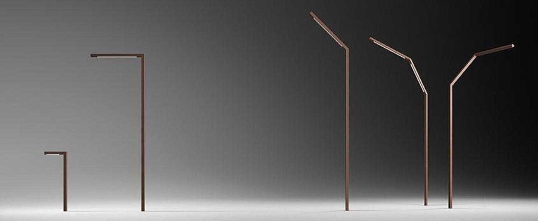 Lampadaire exterieur palo alto marron ip65 led 2700k 1044lm l4 5 cm p85cm h250cm vibia normal