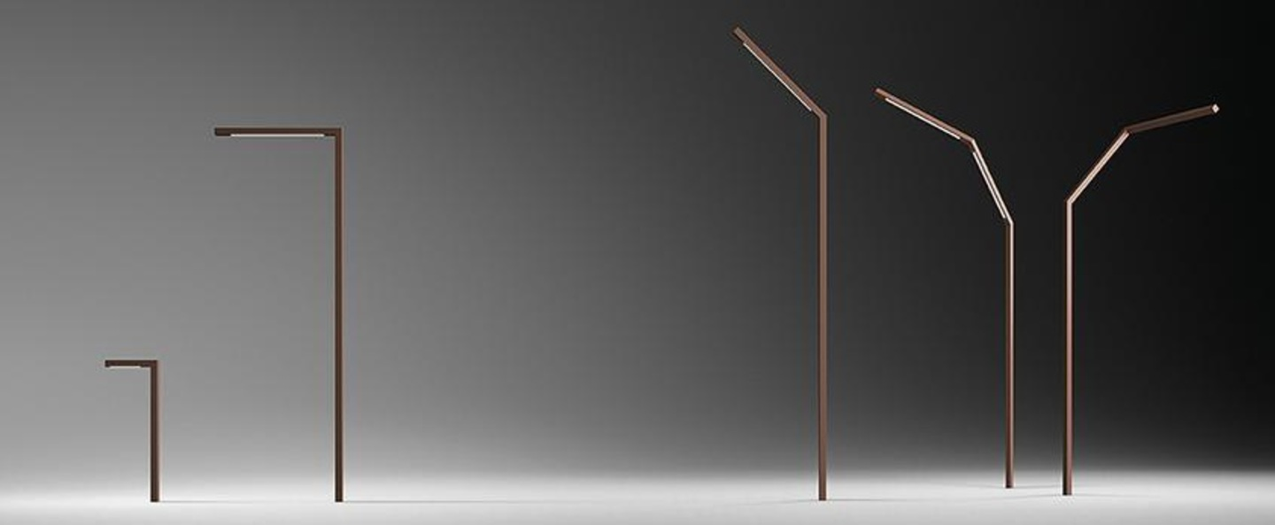 Lampadaire exterieur palo alto marron ip65 led 2700k 1111lm l4 5 cm h332 5cm vibia normal