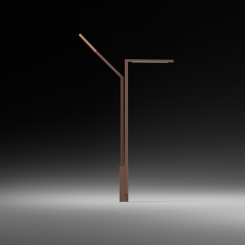 Lampadaire exterieur palo alto marron ip65 led 2700k 3079lm h335cm vibia normal