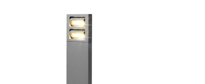 Lampadaire exterieur sway 2 0 aluminium h40cm led 3000k 558lm ip54 wever ducre normal