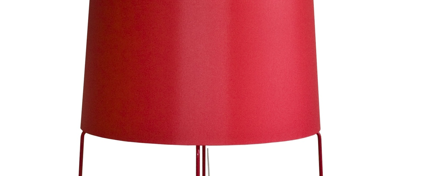 Lampadaire fatsophie rouge h198cm fraumaier normal