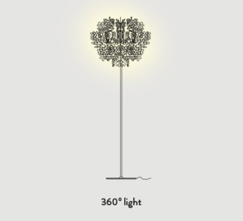 Fiorella nigel coastes lampadaire floor light  slamp f1014pst0000w  design signed 46133 product