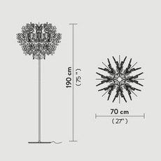 Fiorella nigel coastes lampadaire floor light  slamp f1014pst0000w  design signed 46134 thumb