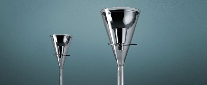 Lampadaire flute transparent h192cm fontana arte normal