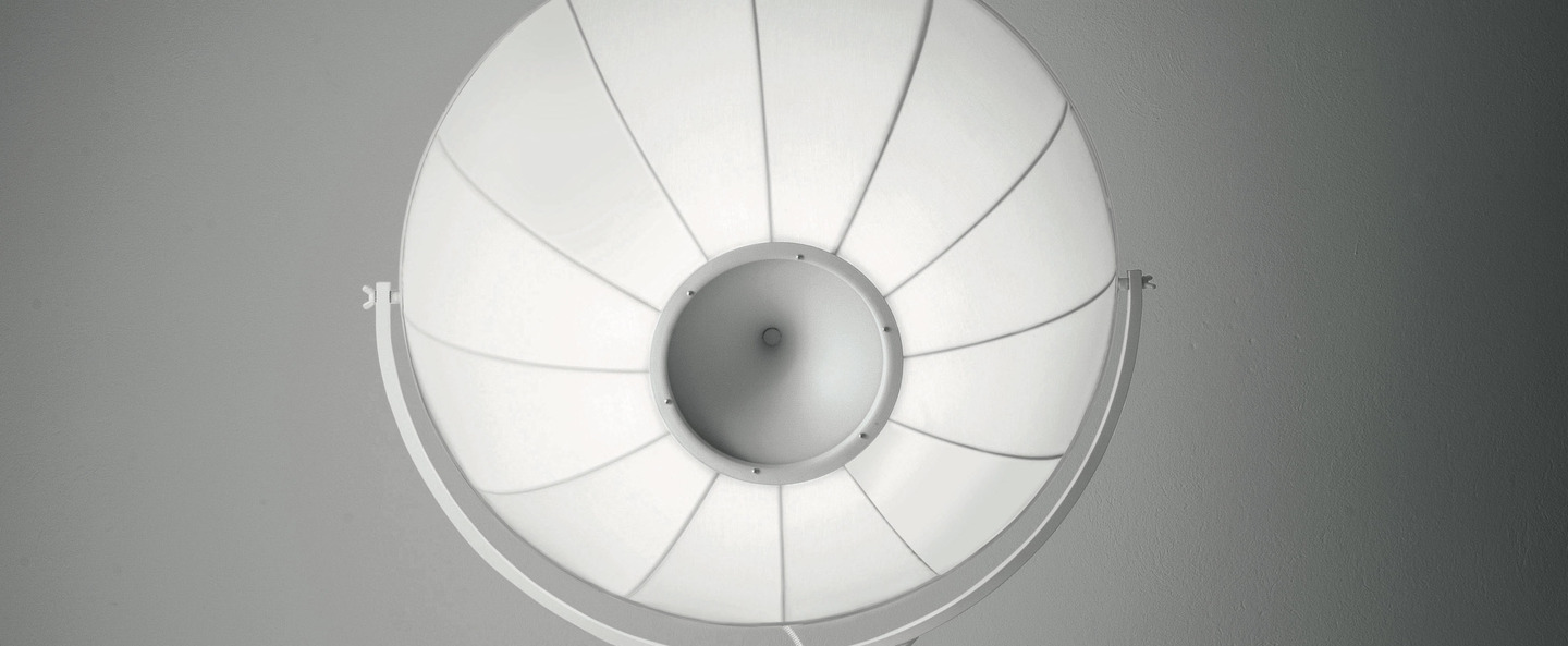 Lampadaire fortuny blanc led o85cm h240cm palluco normal