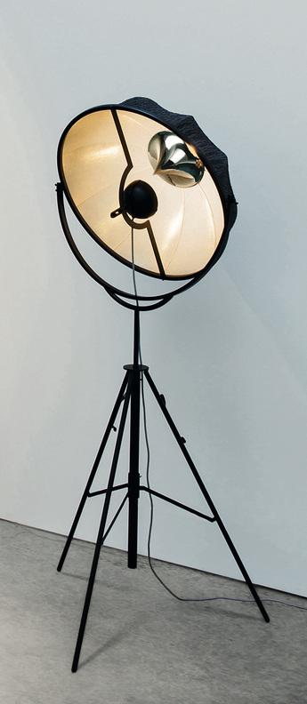 Lampadaire fortuny noir l65cm h210cm palluco normal
