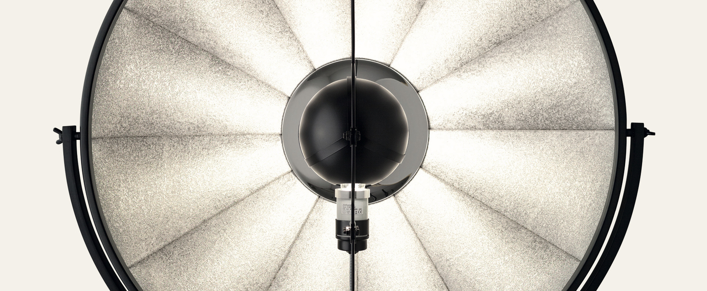 Lampadaire fortuny noir led o85cm h240cm palluco normal