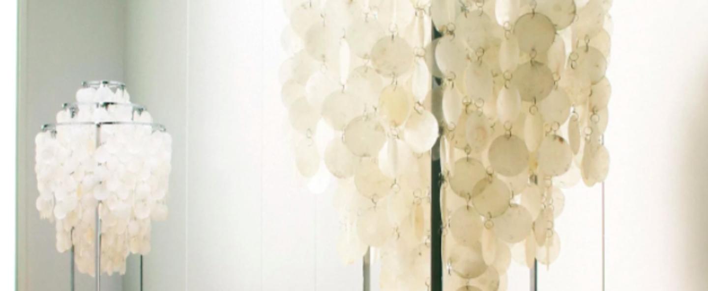 Lampadaire fun 1stm nacre blanc o40cm h120cm verpan normal