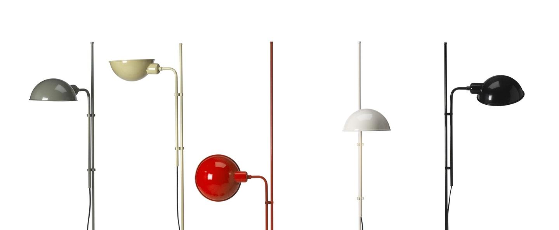 Lampadaire funiculi blanc h135cm marset normal