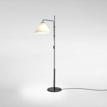Lampadaire funiculi fabric noir blanc led h158cm marset normal