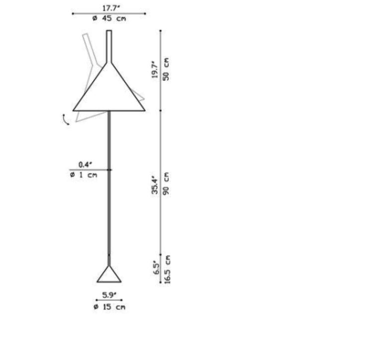 Funnel matija bevk lampadaire floor light  vertigo bird v04014 5201  design signed 50171 product