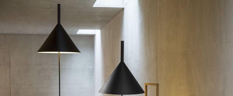 Lampadaire funnel noir o45cm h156cm vertigo bird normal