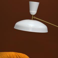 G1 guariche large pierre guariche lampadaire floor light  sammode g1fl wh wh  design signed nedgis 84376 thumb
