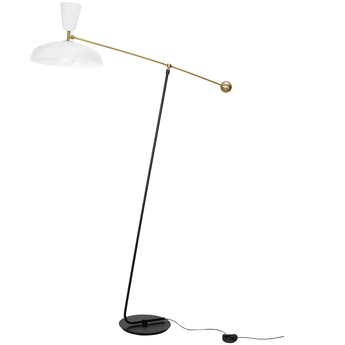 Lampadaire g1 guariche large blanc l115cm h175cm sammode normal
