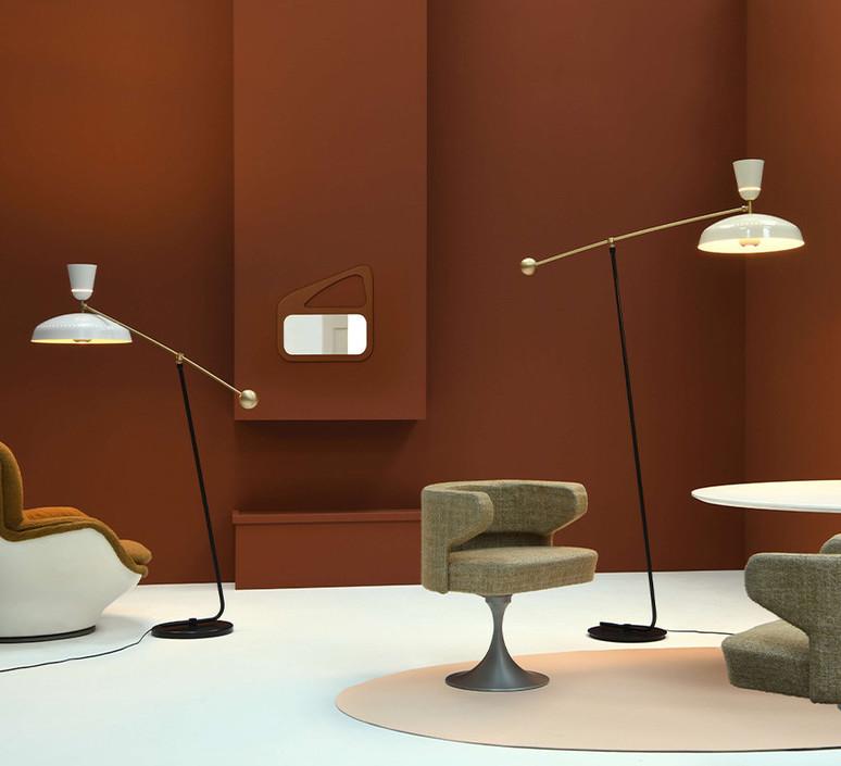 G1 guariche large pierre guariche lampadaire floor light  sammode g1fl ch wh  design signed nedgis 84383 product