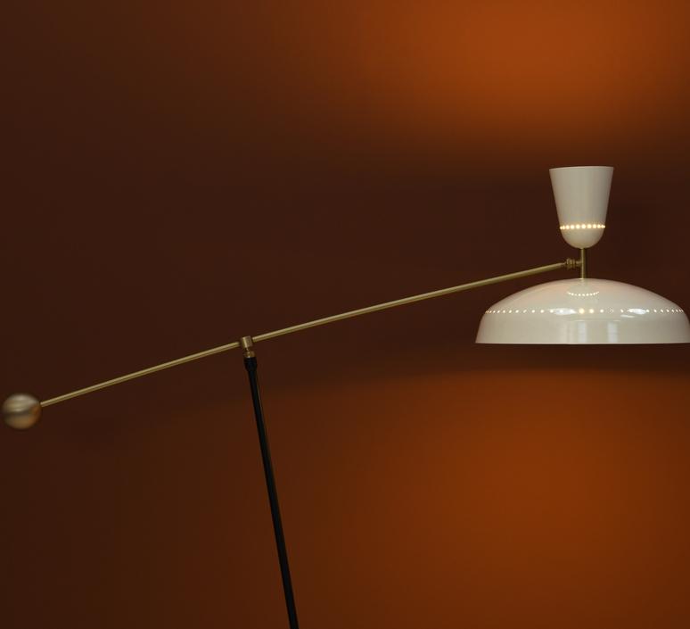 G1 guariche large pierre guariche lampadaire floor light  sammode g1fl ch wh  design signed nedgis 84388 product