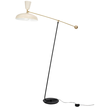 Lampadaire g1 guariche large craie l115cm h175cm sammode normal