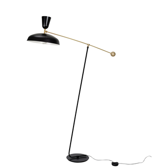 Lampadaire g1 guariche large noir l115cm h175cm sammode normal