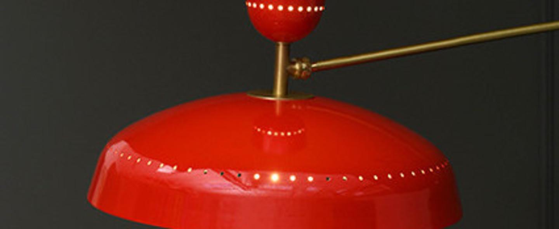 Lampadaire g1 guariche large rouge l115cm h175cm sammode normal