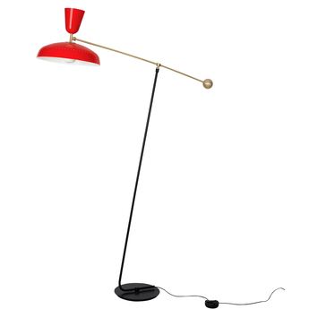 Lampadaire g1 guariche large rouge l115cm h175cm sammode normal