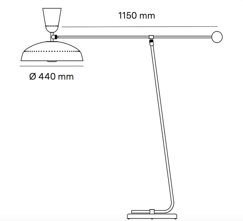 G1 guariche small pierre guariche lampadaire floor light  sammode g1f bk wh  design signed nedgis 84403 product
