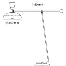 G1 guariche small pierre guariche lampadaire floor light  sammode g1f bk wh  design signed nedgis 84403 thumb