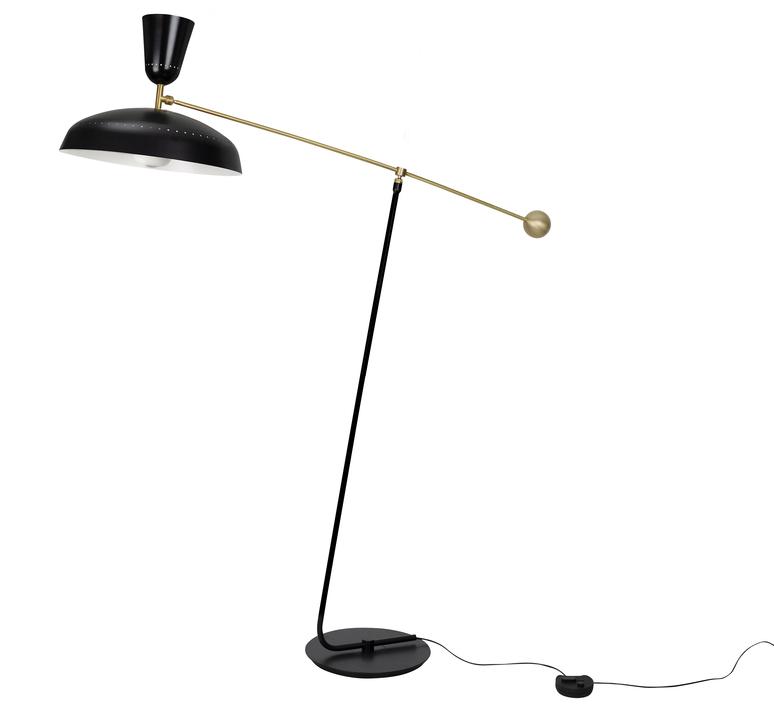 G1 guariche small pierre guariche lampadaire floor light  sammode g1f bk wh  design signed nedgis 84408 product