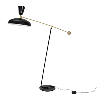 Lampadaire g1 guariche small noir l115cm h120cm sammode normal