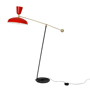Lampadaire g1 guariche small rouge l115cm h120cm sammode normal