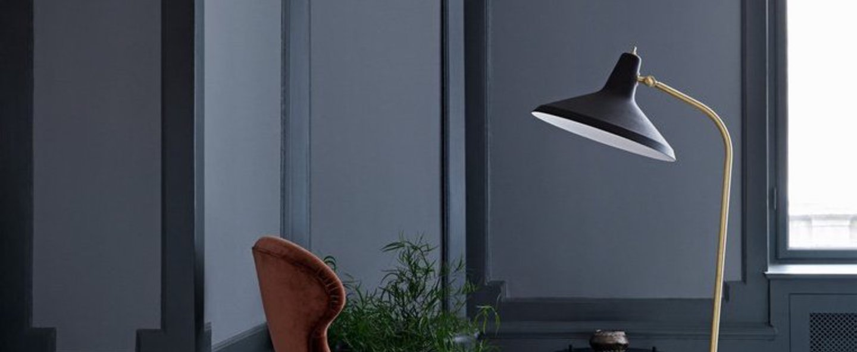Lampadaire g10 noir o26 5cm h140cm gubi normal
