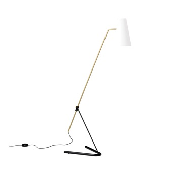 Lampadaire g21 blanc perfore l37cm h117cm sammode normal