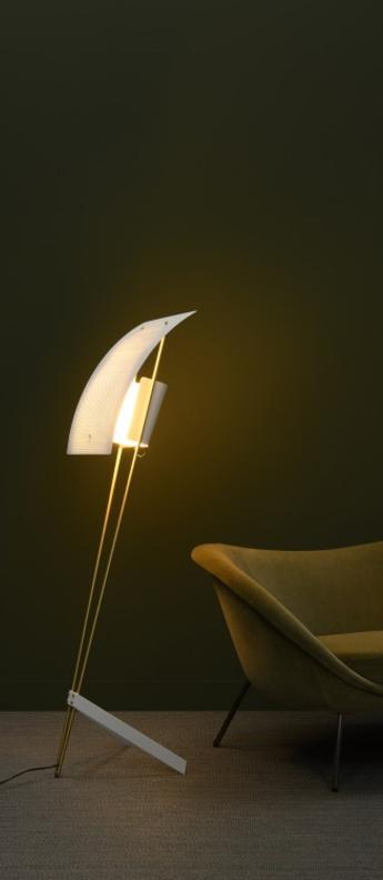 Lampadaire g30 blanc o43cm h155cm sammode normal