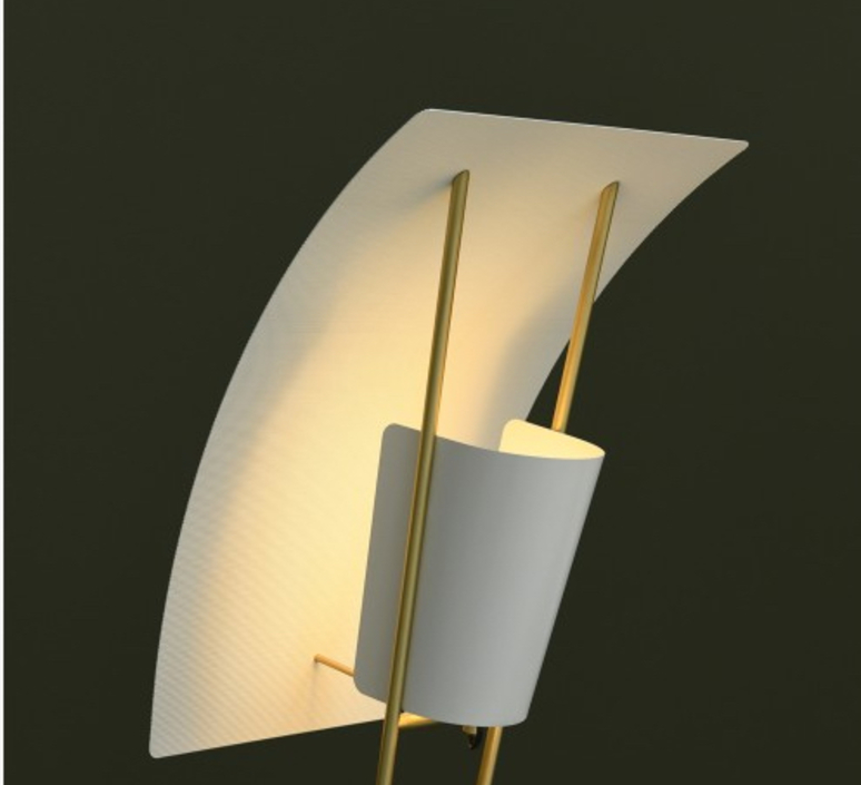 G30 pierre guariche lampadaire floor light  sammode g30 white and white  design signed nedgis 64946 product