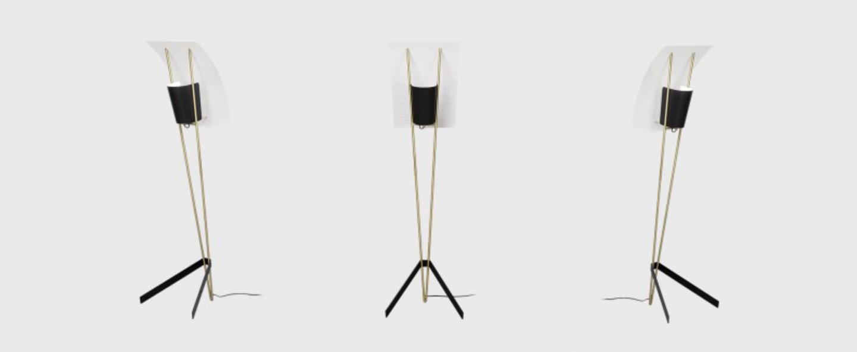 Lampadaire g30 noir et blanc o43cm h155cm sammode normal