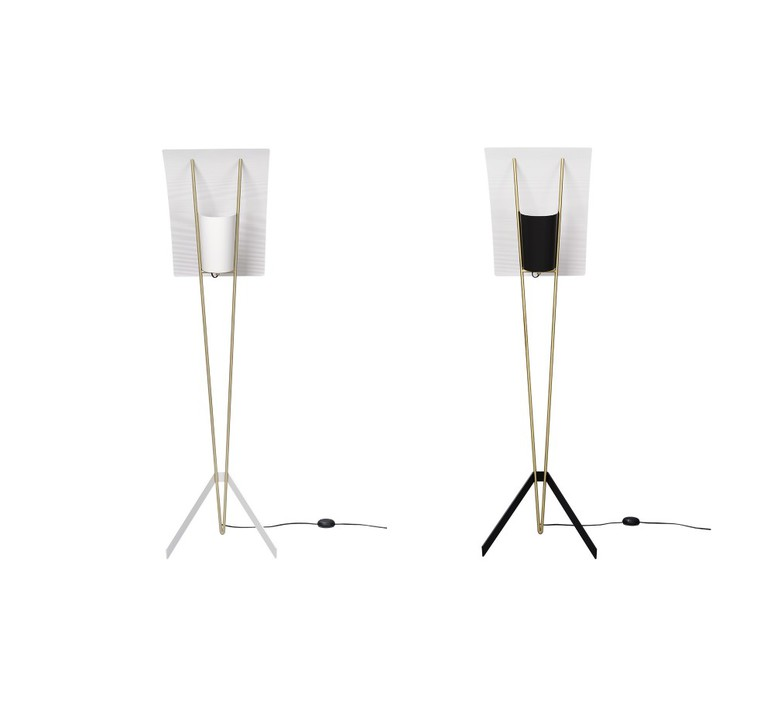 G30 pierre guariche lampadaire floor light  sammode g30 black and white  design signed nedgis 64949 product