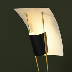 G30 pierre guariche lampadaire floor light  sammode g30 black and white  design signed nedgis 64951 thumb