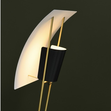 G30 pierre guariche lampadaire floor light  sammode g30 black and white  design signed nedgis 64954 thumb