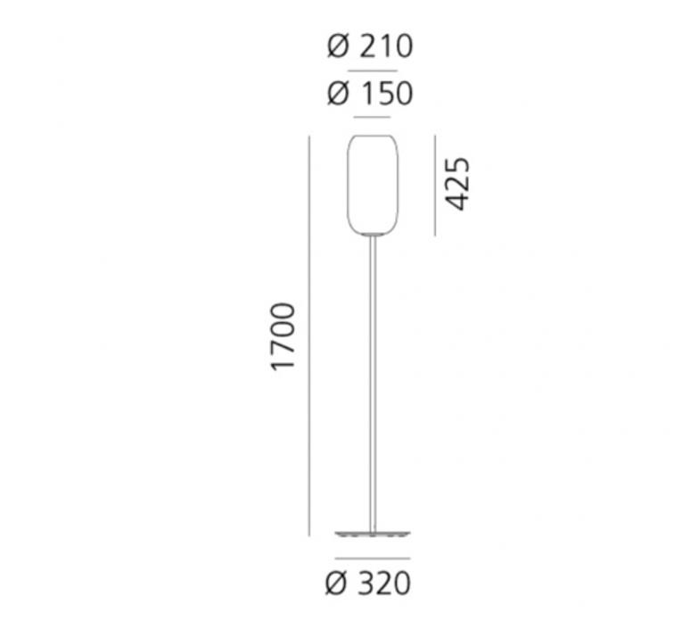 Patroclo gae aulenti lampadaire floor light  artemide 0060010a  design signed nedgis 75695 product