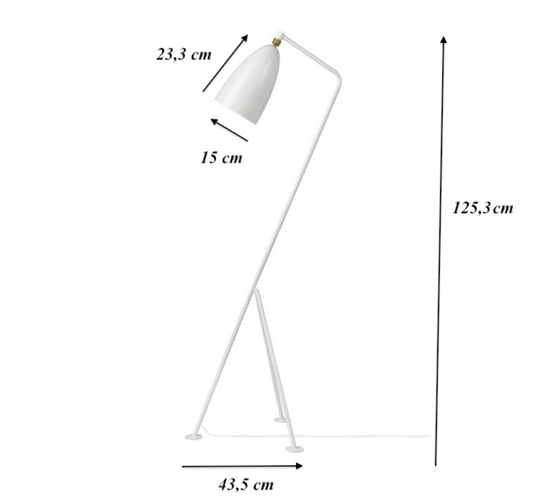 Grasshopper greta grossman lampadaire floor light  gubi 00501108  design signed 61535 product