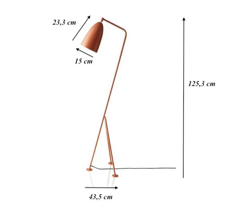 Grasshopper greta grossman lampadaire floor light  gubi 005 01103  design signed 30108 product
