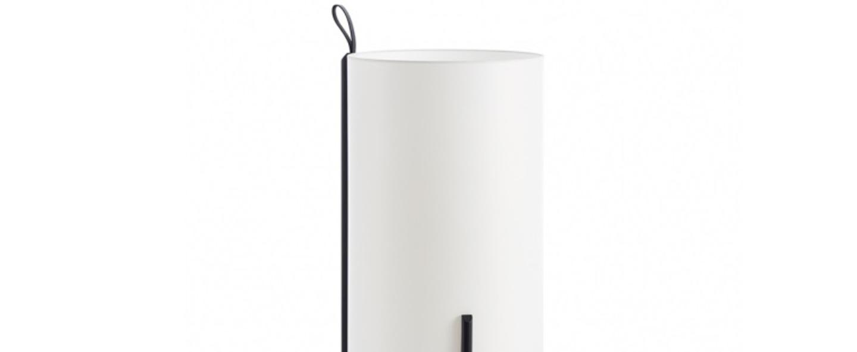 Lampadaire greta chene noir blanc o40cm h90cm carpyen normal